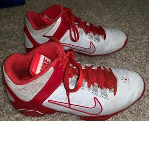 NIKE Air VISI Pro 4 White Red Basketball Shoes 8